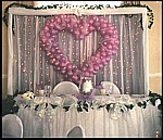 Bridal Table Heart